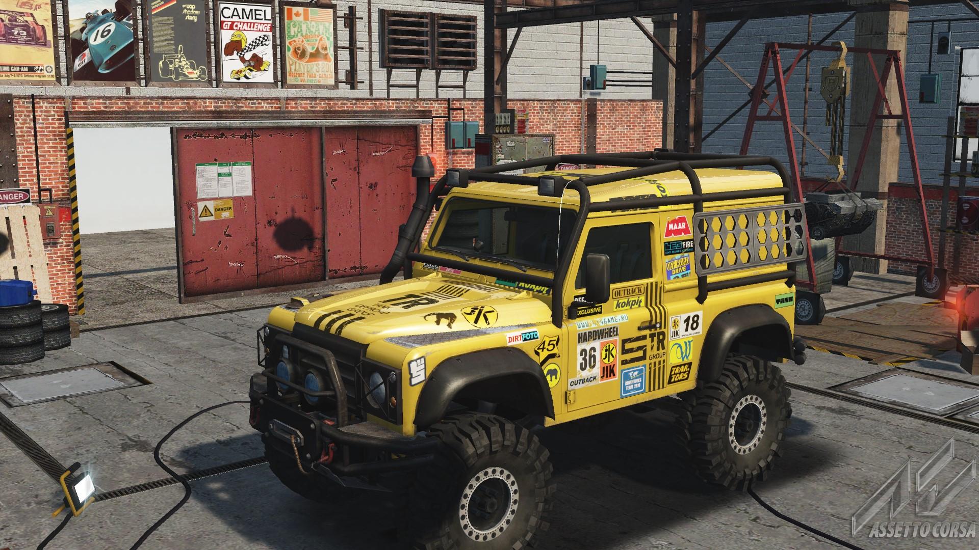 Land Rover Defender Car Detail Assetto Corsa Database Challenge 01